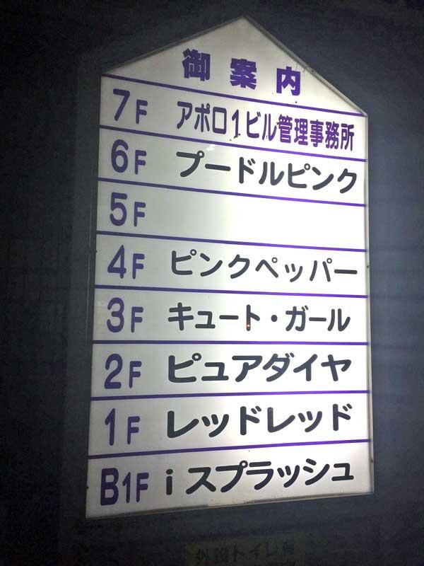 アポロビルは1~6階がショーパブ