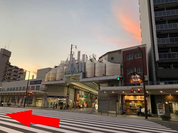ナインモール九条商店街から松島新地はすぐ